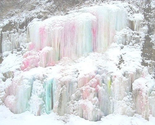 via colored icicles snowflakes amp ice fantasy