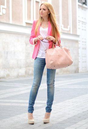 Zara  Blazers, Carolina Herrera  Bags and Replay  Jeans