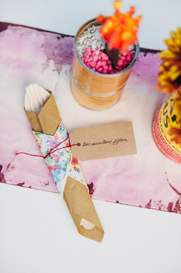 DIY Eclectic Quirky Napkin Ring and Backyard Tablescape
