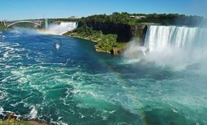 Groupon - Stay with Dining and Activities Package at Ramada Hotel Niagara Falls Fallsview in Ontario. Dates into September. in Niagara Falls, ON. Groupon deal price: $46