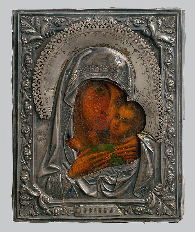 Madonna with child, Russian Iconography, 1800/1900. Slovak National Gallery, CC BY