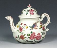 Antique Meissen Bottger teapot decorated in Holland c. 1720