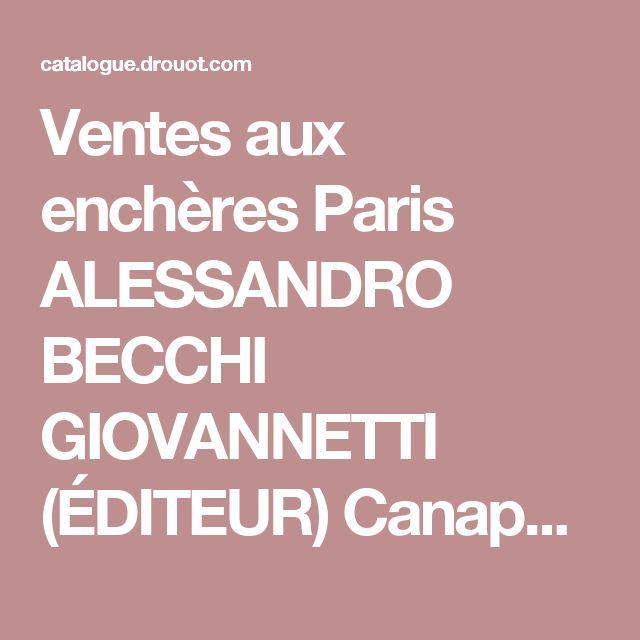 """Ventes aux enchères Paris ALESSANDRO BECCHI GIOVANNETTI (ÉDITEUR)  Canapé-lit """"Anfibio"""", 1971, en cuir havane, struc"""