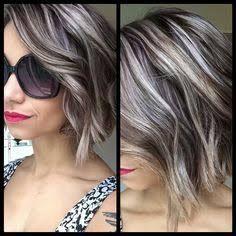 Image result for highlights for long salt and pepper hair