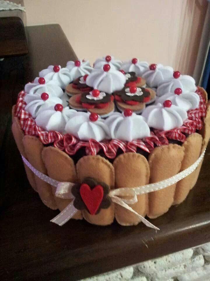 @Torta in feltro e pannolenci, dolci in feltro e pannolenci