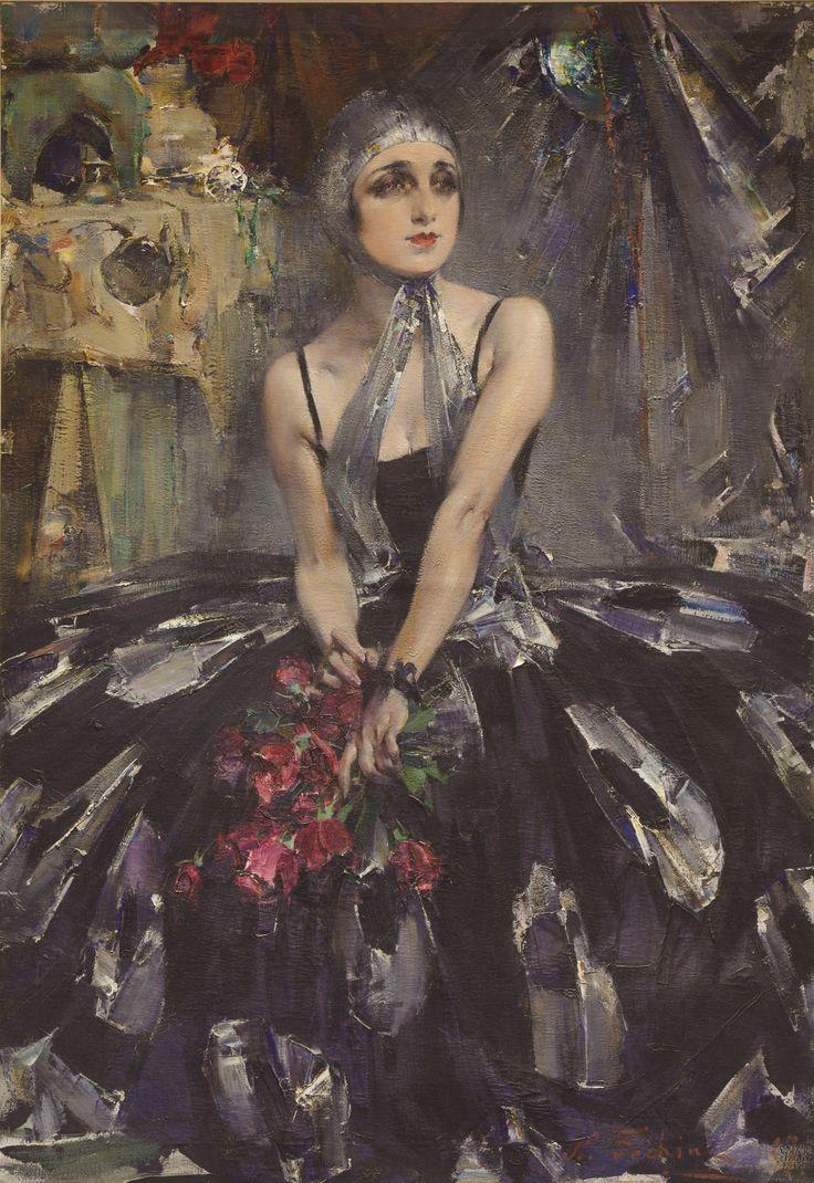 'Ballerina Vera Fokina' - 1927 - by Nicolai Fechin (Russian-American, 1881-1955) - @~ Watsonette
