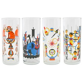 Glass Menagerie Glasses from Fish Eddy