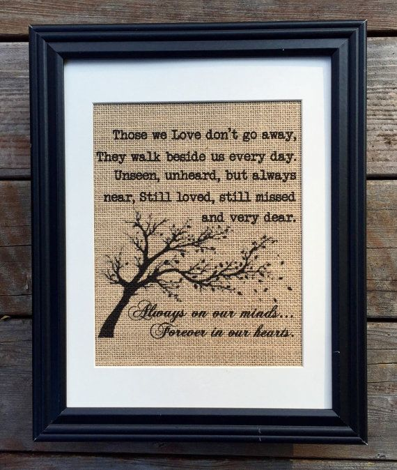 Hey, I found this really awesome Etsy listing at https://www.etsy.com/listing/225213034/in-loving-memory-burlap-print-memorial