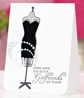 Girlfriends Are Forever Card by Geri Freeman - supplies and instructions included: Cards Ideas, Cards Galor, Forever Cards