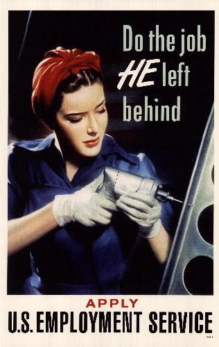 Vintage woman wwii posters left behind women ww2 posters wars ii