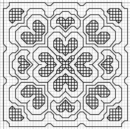 Blackwork Embroidery: Small Motif Pattern