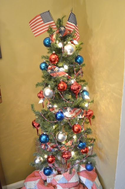17 Best Images About Christmas Trees Red White And Blue