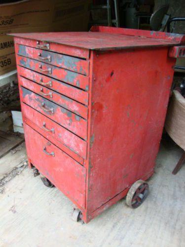 Vintage Metal Industrial 8 Drawer Tool Cabinet Loft Box