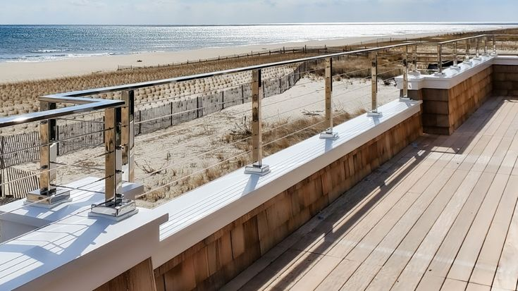 Luxury Cable Railing on a Parapet Wall in 2020 | Outdoor ...