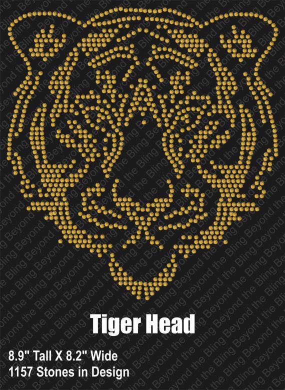 Tiger Head Rhinestone Download Template Diy Tiger Head
