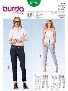 burda style: Schnitte Katalog - Hosen & Overalls - Jeans – Boyfriend-Style