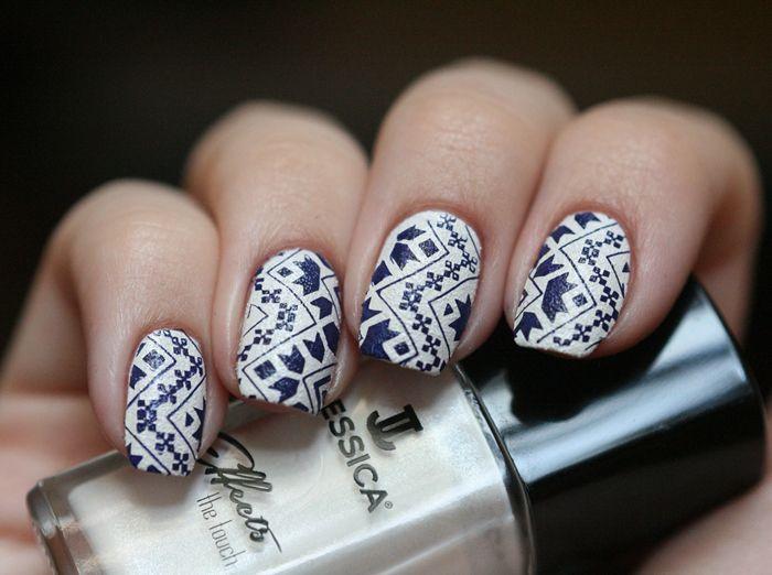 So Marvellous: Tribal print #nail #nails #nailart