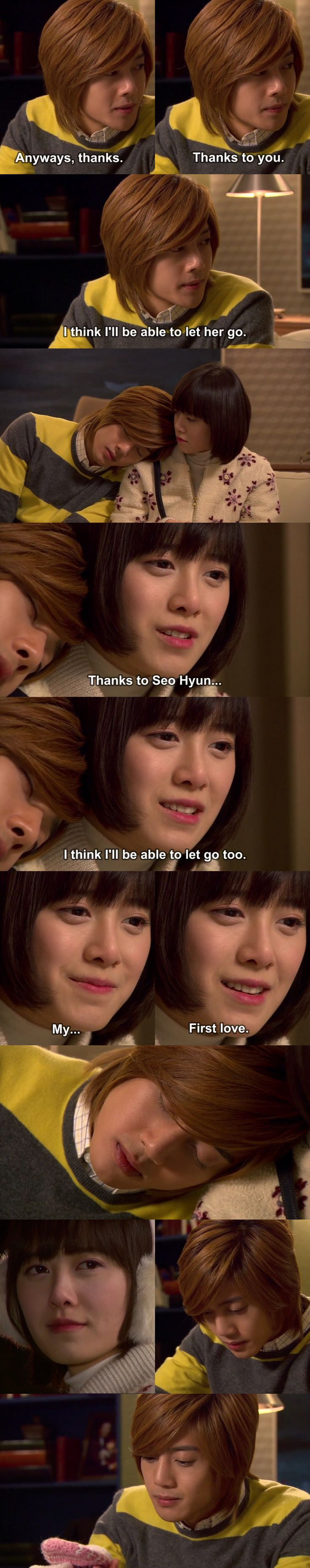 This is the point where my favorite drama ever took a wrong turn. :'( Geum Jan Di and Yoon Ji Hoo, Boys Over Flowers, Ku Hye Sun, Kim Hyun Joong #KDrama