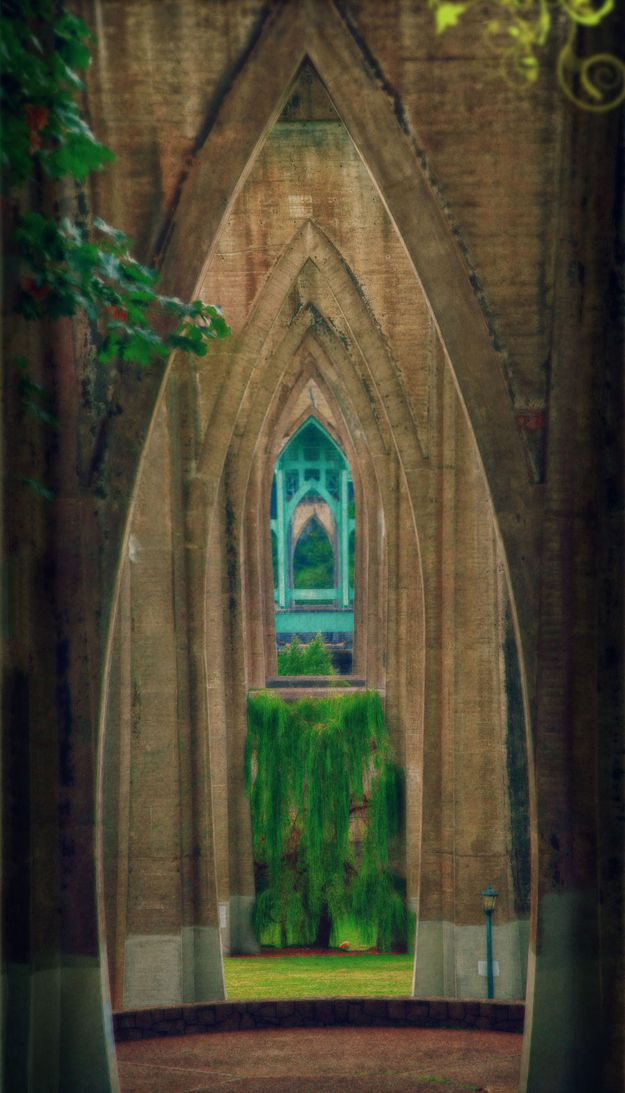 Under St. John's Bridge in Portland Oregon - there's a park that looks like a cathedral!   22 Of The Coolest Places To Get Married In America