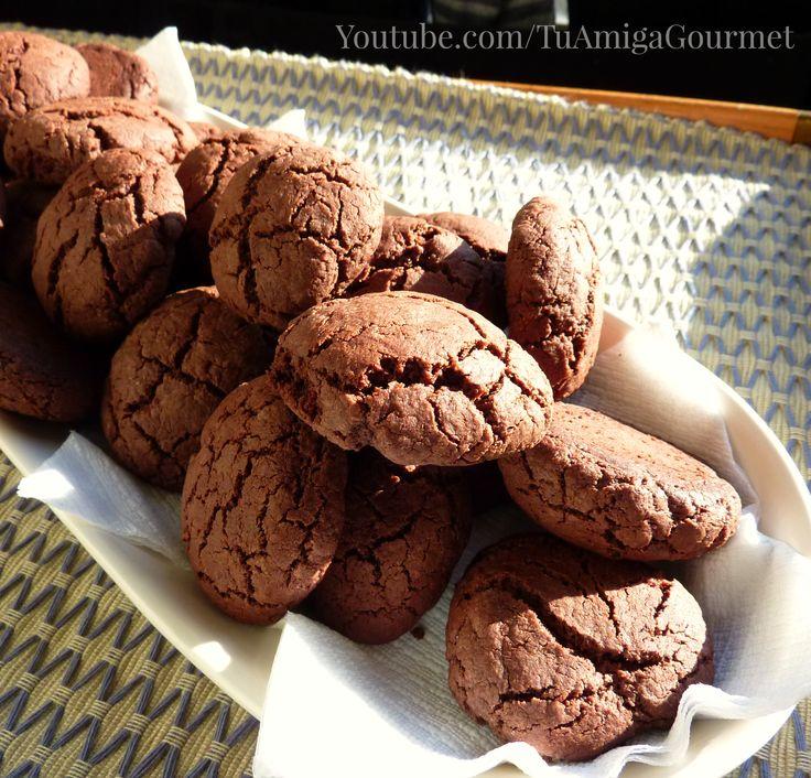 Aprende a preparar unas deliciosas #Galletas de #Chocolate con esta #receta. Libres de gluten y de lácteos. Deliciosas y fáciles de preparar. #receta #recipe #glutenfree #diaryfree