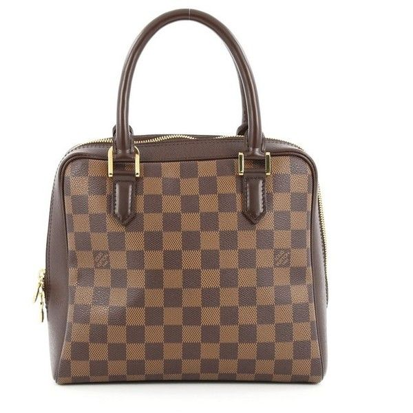 Pre-Owned Louis Vuitton Brera Handbag Damier (1.535 BRL) ❤ liked on Polyvore featuring bags, brown, louis vuitton, multi coloured bags, pre owned bags, zip handle bags and brown handle bags