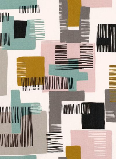 Trend - Working with Stripes by Perch & Parrow        print & pattern: WALLPAPER Today I am posting fabrics and wallpapers from Villa Nova's Etta collection. Etta is a modernist range of prints and weaves that takes its initial inspiration from the work of Henri Matisse