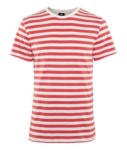 Es una camisa rojo y blanco.