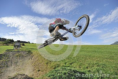 Extreme jumps on a bike