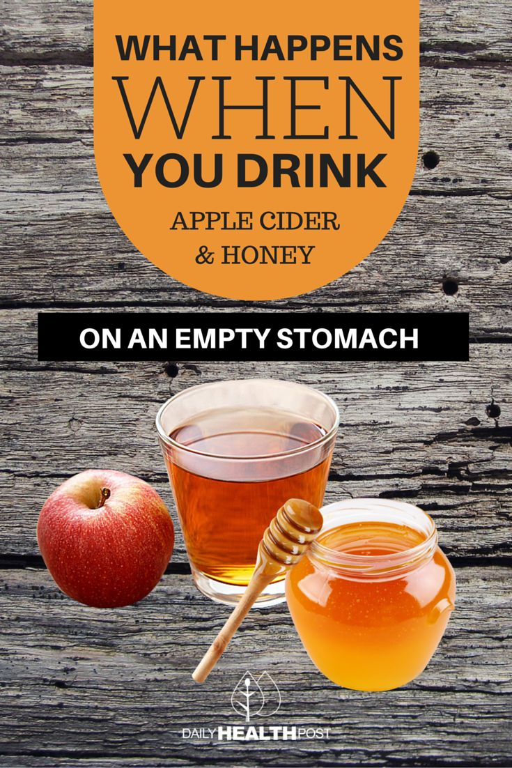 What Happens When you Drink Apple Cider Vinegar And Honey Water On An Empty Stomach In The Morning… via @dailyhealthpost