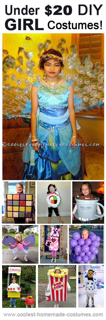 Coolest Homemade Girl Costumes for Under $20! … Enter the Coolest Halloween Costume Contest at http://ideas.coolest-homemade-costumes.com/submit/