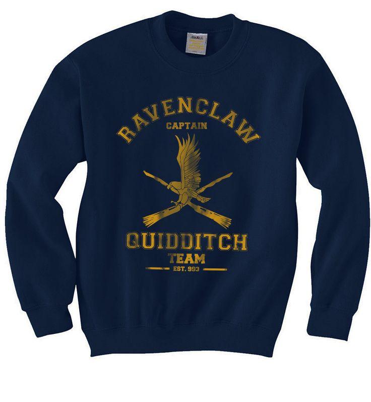 CAPTAIN Ravenclaw Quidditch team Unisex Sweatshirt by geekspride on Etsy https://www.etsy.com/listing/214951743/captain-ravenclaw-quidditch-team-unisex