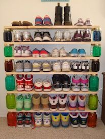 Great shoe storage for a dorm room or college apartment!: