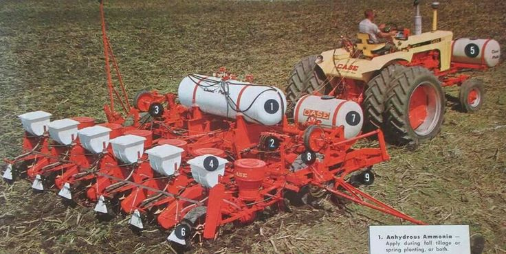 1030 Case Tractor With Loader : Case row planter behind tracteur j i se