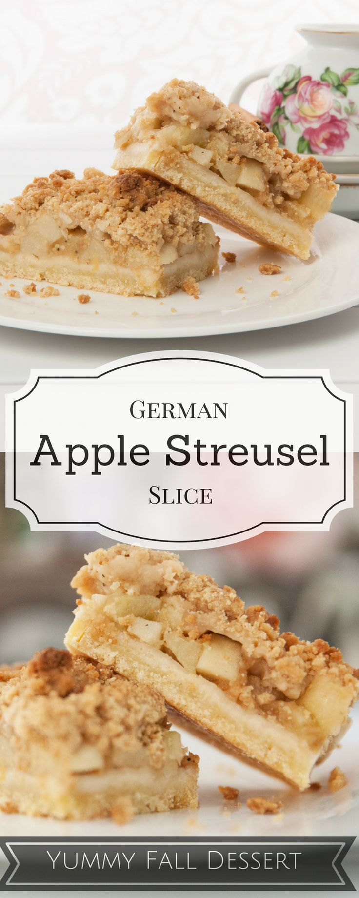 This is the first dessert I will make this fall! The perfect warming dessert! Recipe is for a large sheet cake. #apple #fall Can be made in the Thermomix #thermomix (Canned Apple Recipes)