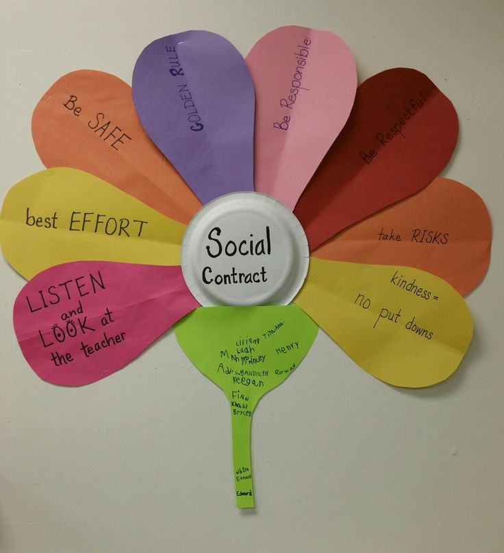 Our Social Contract for my first grade class. Our elem. school has taken on  Capturing Kids Heart.