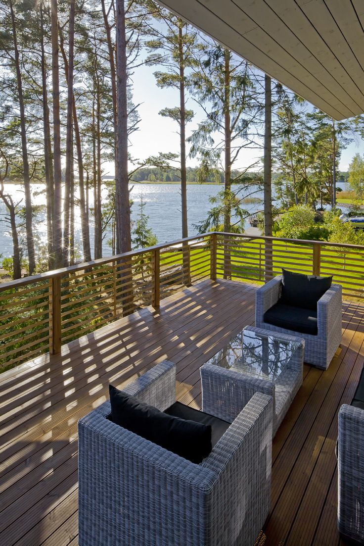What a view! Honka log homes.