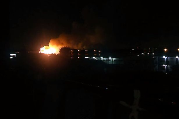 08/23/2015 - Huge explosions at US army base in Japan as warehouse burns and emergency services rush to scene