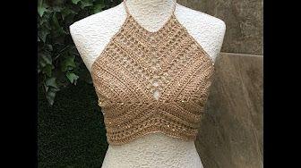 Summer/ Festival Crochet Crop Top - YouTube
