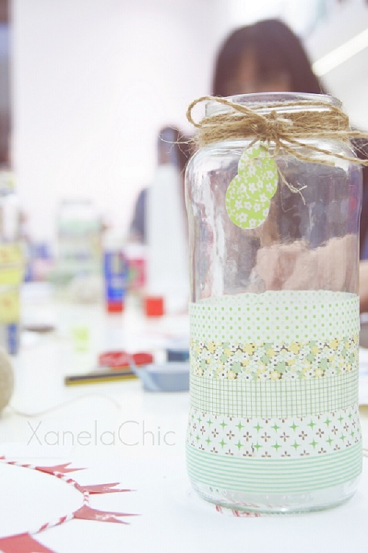 washi tape jar and tag