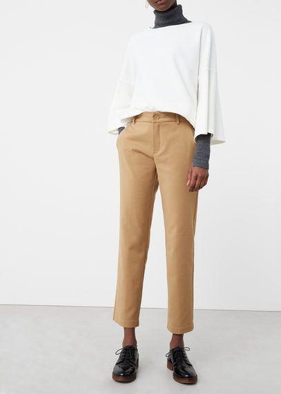 Укороченные брюки хлопок