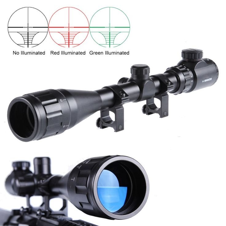 Hunting Scope 4-16X40AOEG Sniper Rifle scope with Adjustable Objective Lens of Illuminated Red Green Rangefinder Reticle //Price: $80.99 & FREE Shipping //     #hunting #camping #outdoors #pocketdump #knives #knifeporn