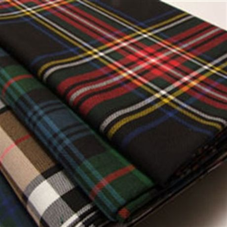Picture of Tartan Fabric. Apparel & Furnishing Poly/Vis