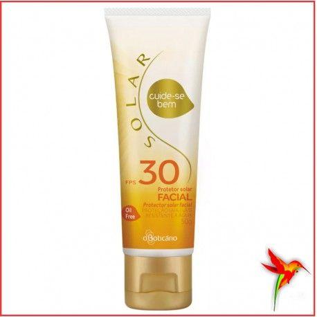 Cuide se Bem Solar Protetor Facial FPS30 Feminino. O protetor feito para o seu rosto. O Cuide-se Bem Protetor Solar Facial FPS 30 foi feito especialmente para proteger e cuidar da pele do seu rosto. A sua fórmula é livre de óleo e contém vitamina E, que possui propriedades antioxidantes, ajudando a prevenir o envelhecimento precoce da pele.