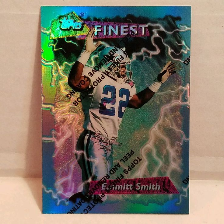 Emmitt Smith Football Card 1995 Topps Finest Booster Refractor Dallas Cowboys  #DallasCowboys #forsale #emmittsmith #footballcard #topps #finest #refractor #nfl #ebay #cowboys #dallascowboys #hof #vintage #sportscard #cardcollector #football http://ow.ly/qads306Z5Ks