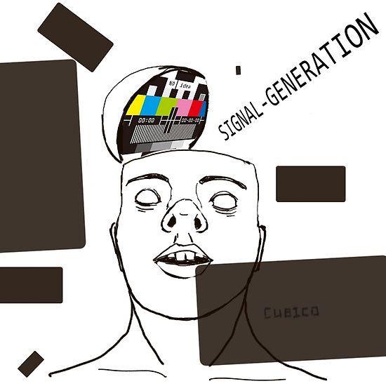 No signal generation, ilustración basada en lo triste que es ver alguien que no se da cuenta de nada.