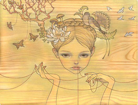 audrey kawasaki | Audrey Kawasaki es una pintora Japonesa-Americana que vive en Los ...