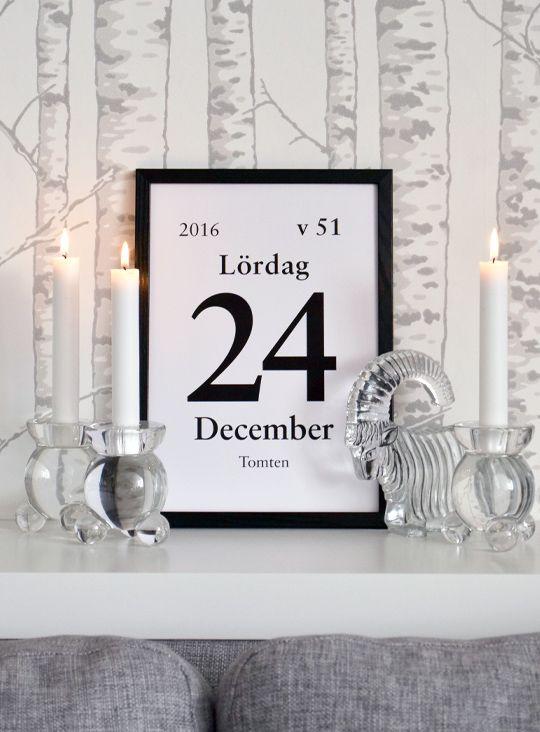 Var dags rum: Varsågod, juliga kalenderdagblocksblad att skriva ut!