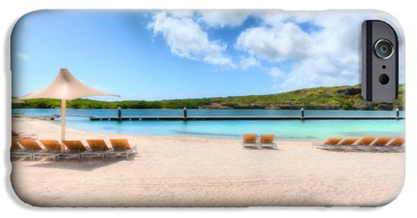 iPhone Cases - Blue Lagoon . Beautiful Curacao, colorful island in the caribbean. Blue skies, blue sea and white sand under your feet