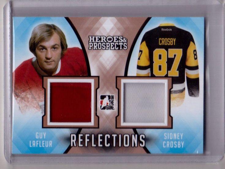 GUY LAFLEUR SIDNEY CROSBY 16/17 Leaf Heroes Prospects Dual Jersey Reflections | eBay
