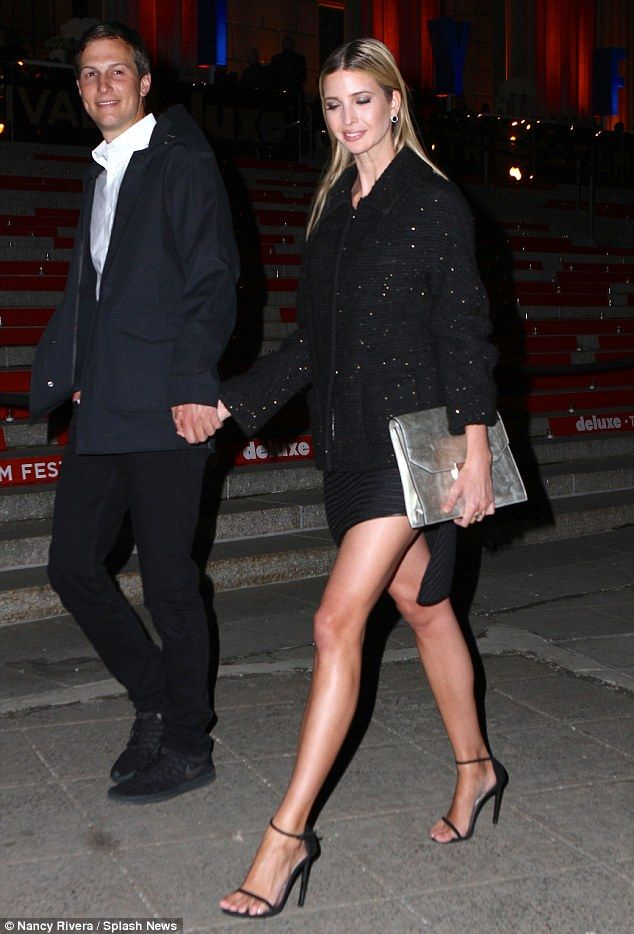 The long and short of it! Ivanka showed off her toned limbs...